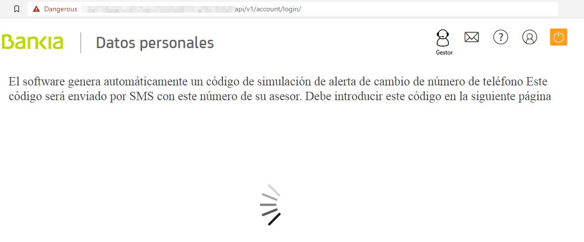 Bankia web de carga