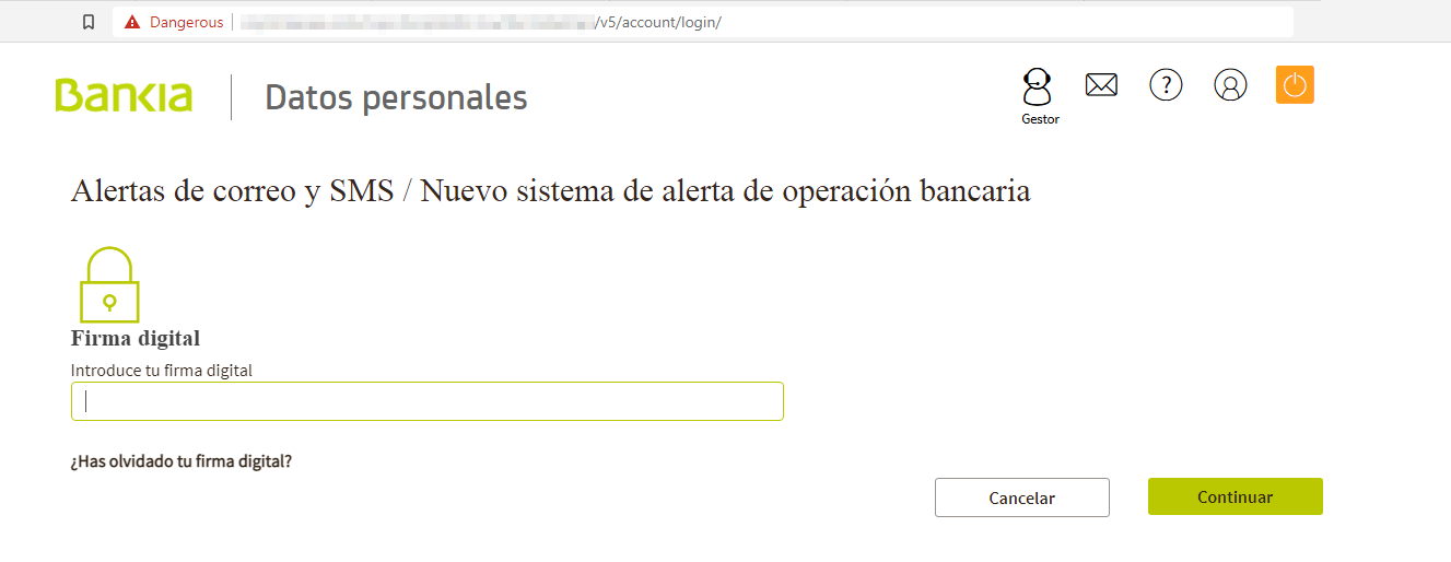 Bankia firma digital