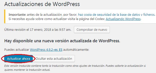 Actualización de seguridad WordPress 4.9.2 | INCIBE