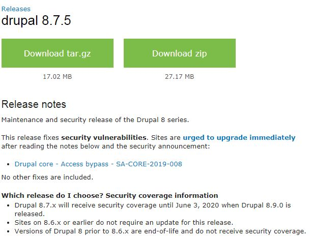 Drupal 8.7.5