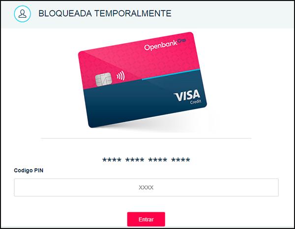 Página fraudulenta en la que se solicita la clave pin de la tarjeta.