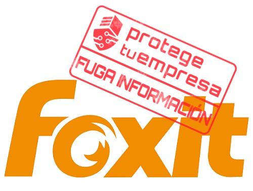 Foxit, fuga de información.