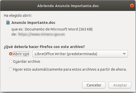 Abrir fichero adjunto con...