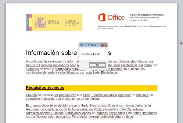 Documento malicioso