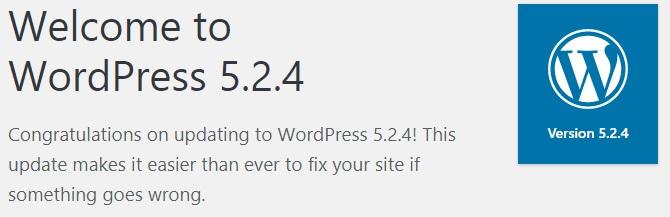 mensaje wordpress