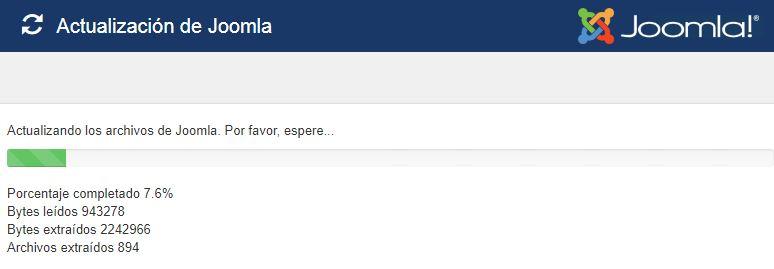 Proceso de actualización de Joomla!