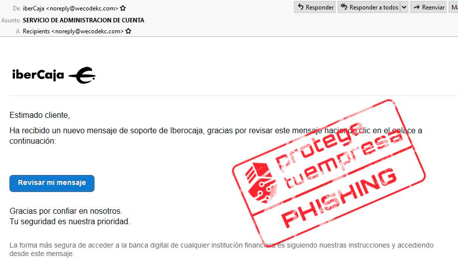 IberCaja con sellos Phishing
