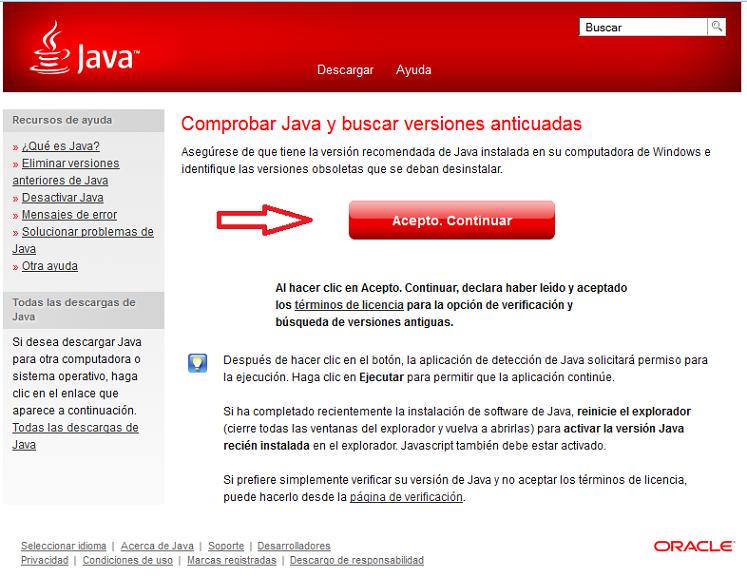 Comprobar Java y buscar versiones anticuadas
