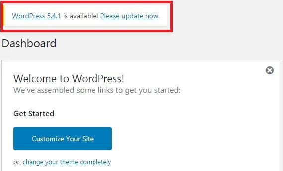 Actualizar WordPress 5.4.1
