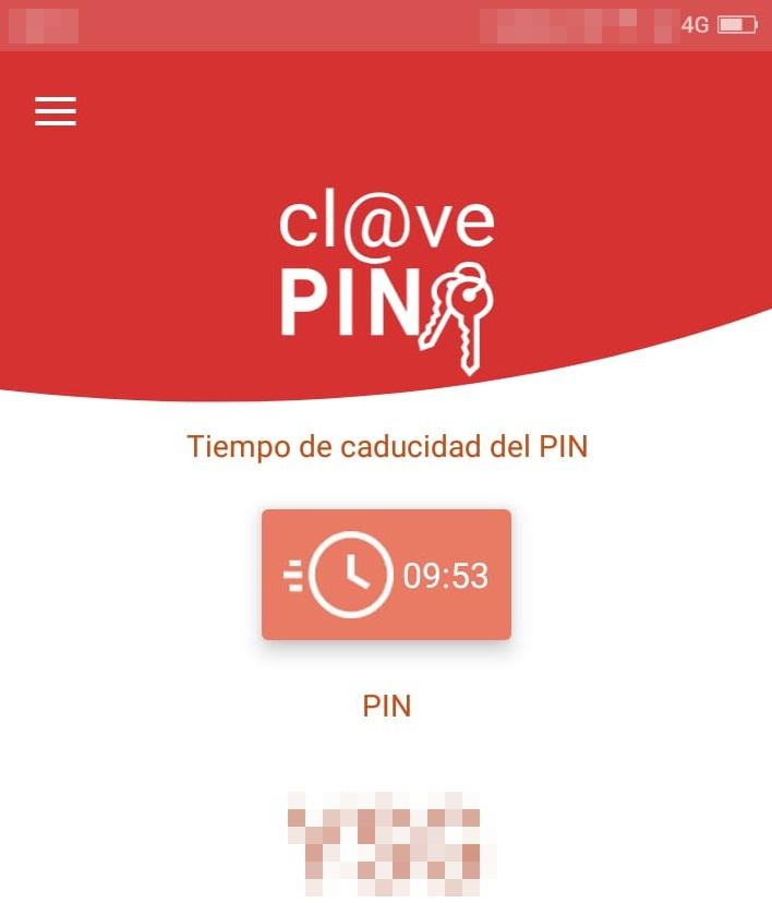 Aviso de seguridad 30/07/2020 - Obtener clave pin en app