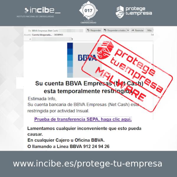 Aviso de seguridad 12/08/2020 - Campaña malware BBVA