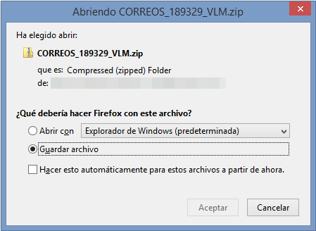 Captura descarga archivo comprimido con malware