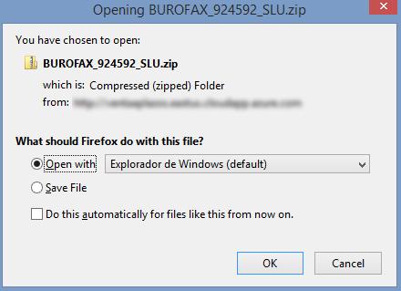 Malware vinculado a la campaña burofax, nueva campaña 10-11-2020