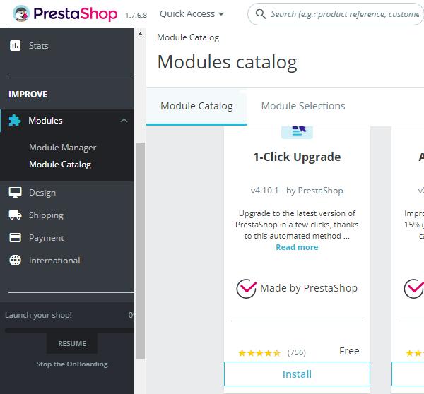 Aviso 17/11/2020 - Instalación módulo actualizaciones Prestashop