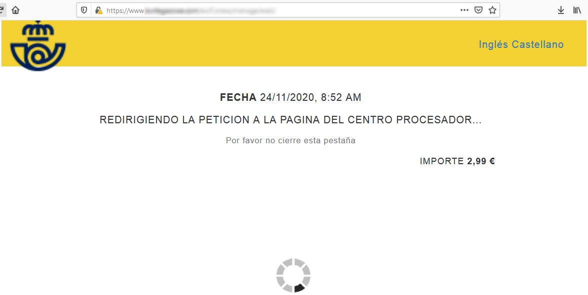 Aviso de seguridad 24/11/2020 - Phishing Correos