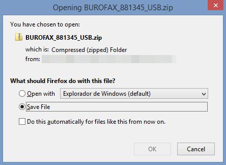Descarga malware - Aviso 10/12/2020 Burofax