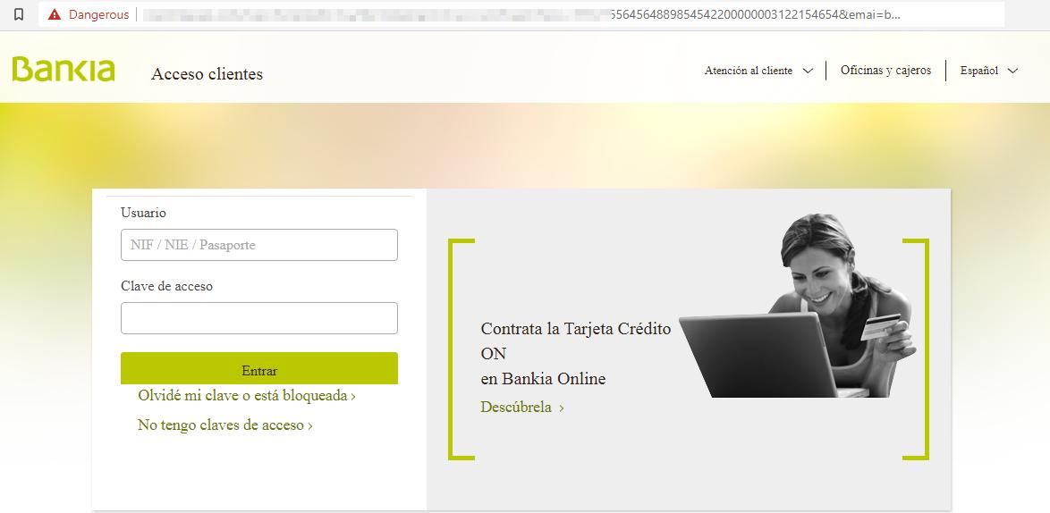 Bankia web fraudulenta