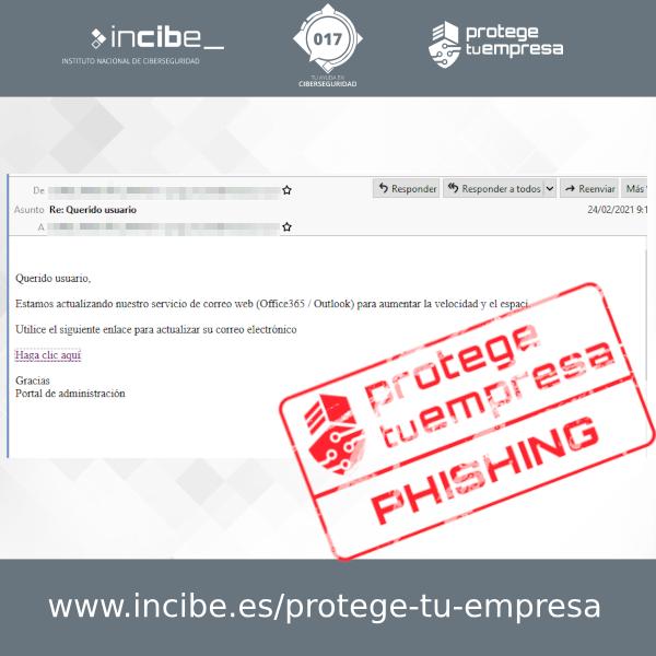 Phishing correo malicioso