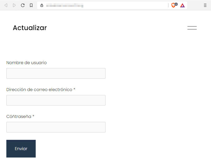Web de phishing