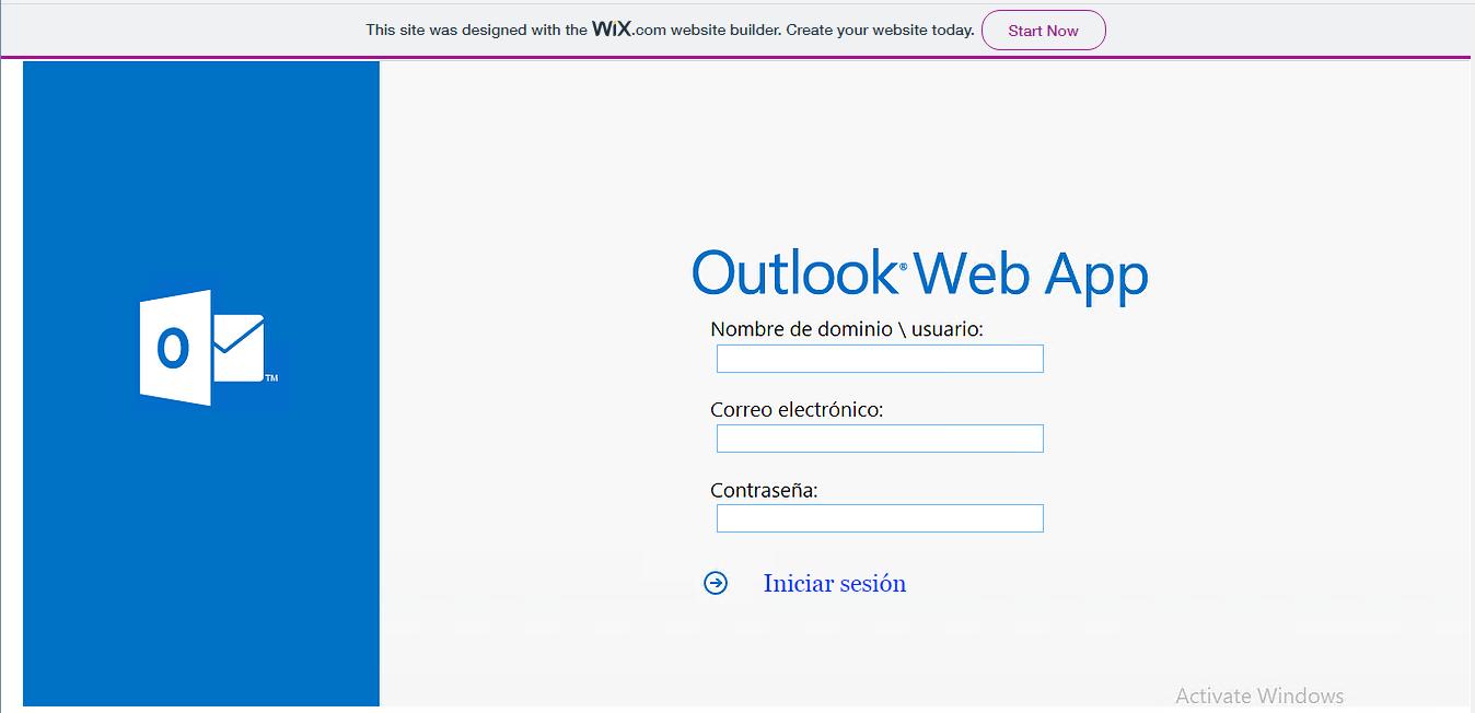 Web spoofing suplantando a Outlook Web App