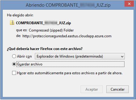 Archivo malicioso vinculado al primero correo