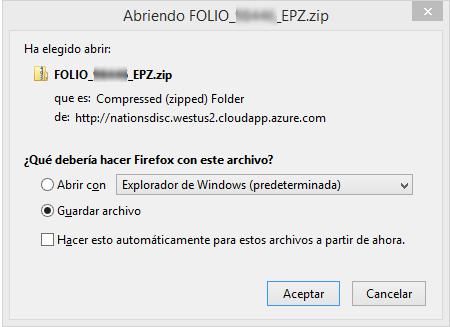 Archivo malicioso vinculado al segundo correo
