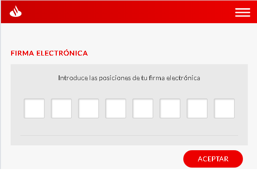 Solicitud datos firma electrónica