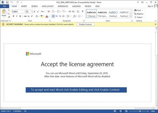 Aceptar licencia