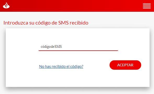 SMS recibido