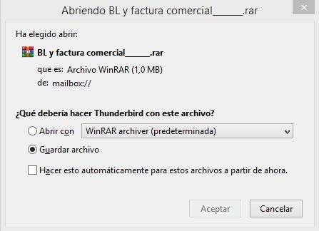 Descarga malware - DHL