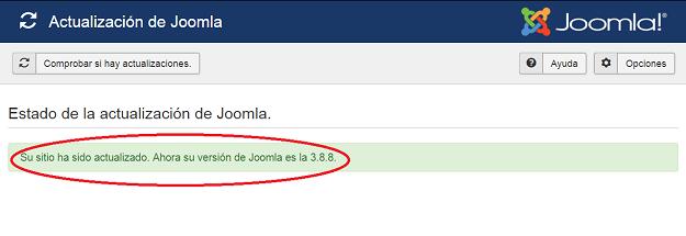 Joomla! actualizado