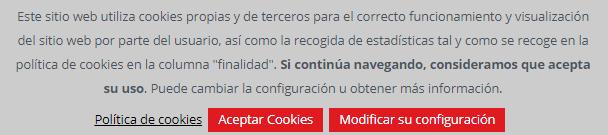 Politica de cookies de INCIBE