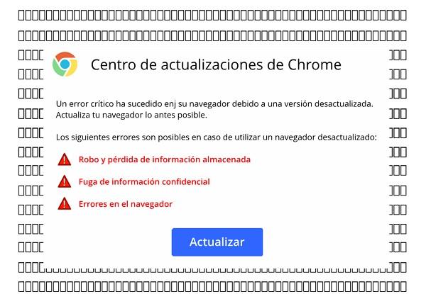 Centro de actualizaciones de Chrome