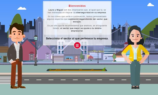 Imagen de muestra de los itinerarios interactivos de la formación sectorial de protege tu empresa
