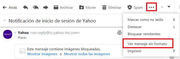 Correo Yahoo ver mensaje