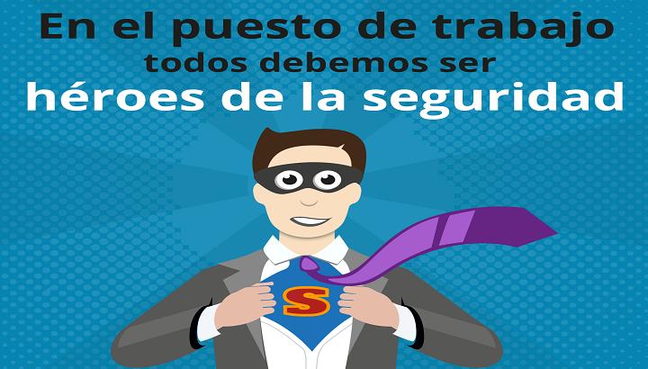 En el puesto de trabajo, el empleado es un superhéroe de la ciberseguridad