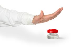 Imagen plan de crisis: boton de emergencia