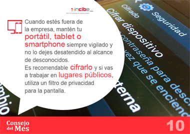 Ciberseguridad empresas dispositivo movil cifrado