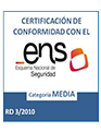 Certificate of Compliance with the National Security Framework (NSF) RD 3/2010