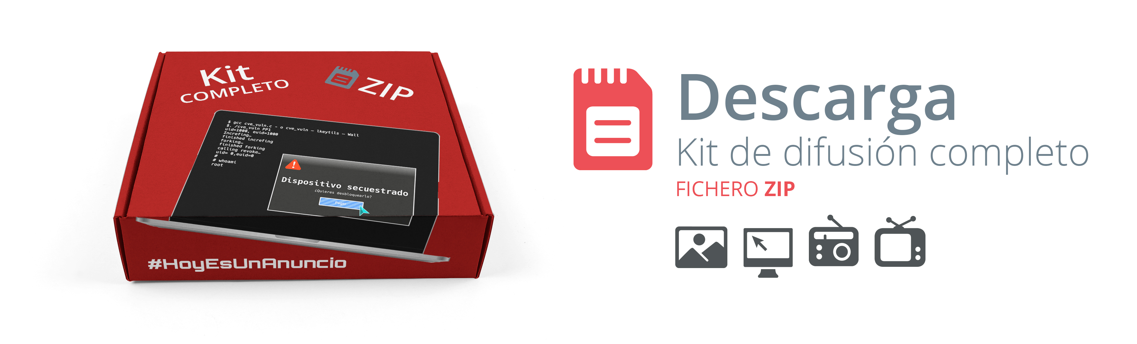 Descarga Kit de difusión completo. Fichero ZIP.