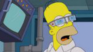 Homer Simpson con las Google Glass